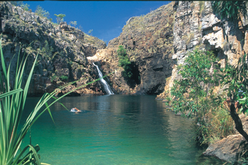 Barramundi Gorge now renamed as Maguk pool in Kakadu some 22 klm off the Kakadu Highway south end of Kakadu National Park
