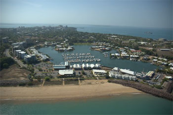 Cullen Bay Darwin thanks Mark Christie and his Ultra light photo